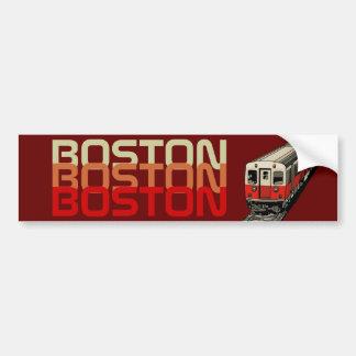 Retro Boston bildekal