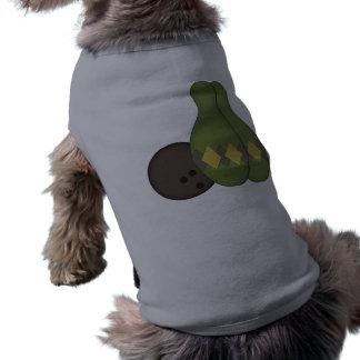 Retro bowlinguppsättning hund kläder