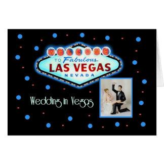 Retro bröllop i Las Vegas med brud- & Hälsningskort