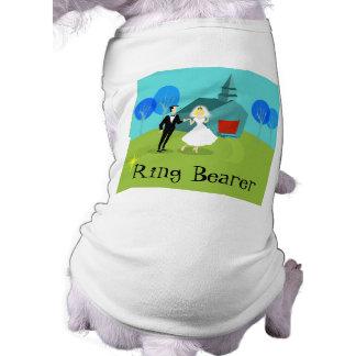 Retro bröllop kopplar ihop ringbärarehund tröja långärmad hundtöja
