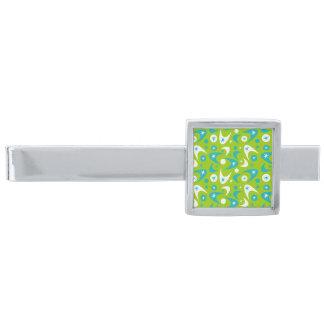 Retro bumeranger för anpassade slipsnål med silverfinish