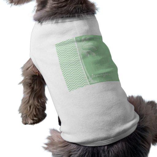 Retro Celadonsparre för sommar; sicksack Tröja För Hundar