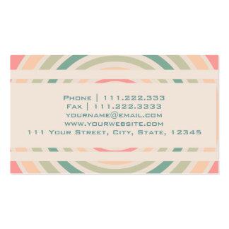 Retro cirkla set av standard visitkort