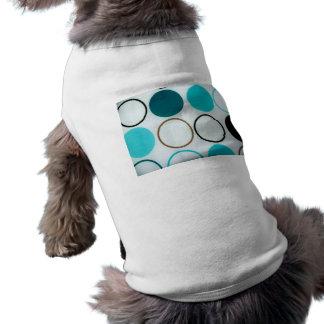 Retro cirklar blått och vit djur tee shirt