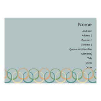 Retro cirklar - knubbig set av breda visitkort