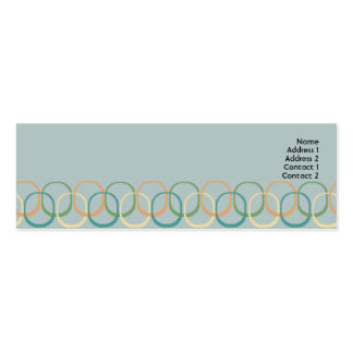 Retro cirklar - smala set av smala visitkort