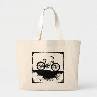 Retro cykel för Grunge Jumbo Tygkasse