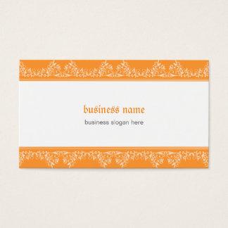 Retro damastast Filigree elegant orange Visitkort