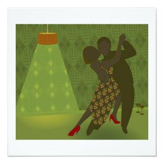 Retro dansinbjudan fyrkantigt 13,3 cm inbjudningskort