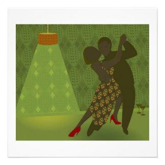 Retro dansinbjudan anpassningsbara inbjudningskort