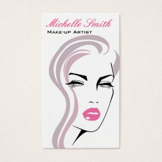 Retro design för sminkkonstnärvisitkort visitkort