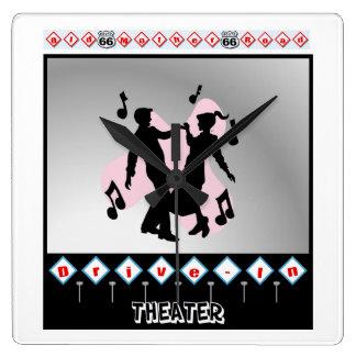Retro design fyrkantig klocka