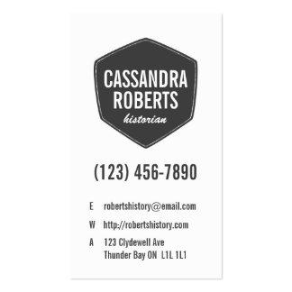 Retro diagonala tegelstenar - stil 5 set av standard visitkort