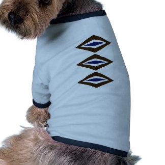Retro diamantTrio för brunt & för kobolt Kläder För Husdjur