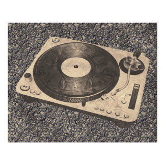 Retro DJ-TurntableGrunge Poster