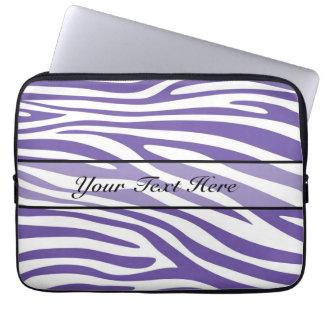Retro djur zebra tryck 13 laptopskydd fodral
