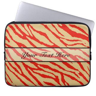 Retro djur zebra tryck 17 laptopskydd fodral