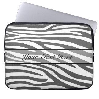 Retro djur zebra tryck 3 datorskydds fodral