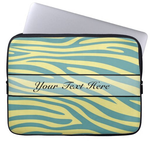 Retro djur zebra tryck 5 datorfodral