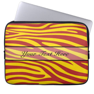 Retro djur zebra tryck 7 laptopfodral