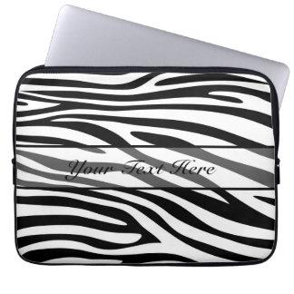 Retro djur zebra tryck 9 laptopskydd fodral