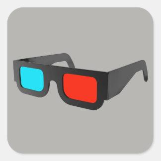 Retro exponeringsglas 3D Fyrkantigt Klistermärke