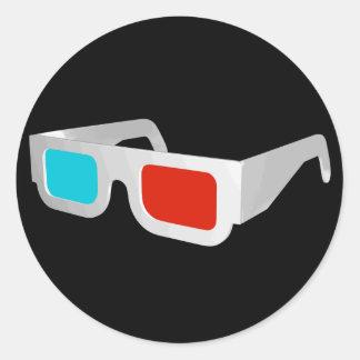 Retro exponeringsglas 3D Runt Klistermärke