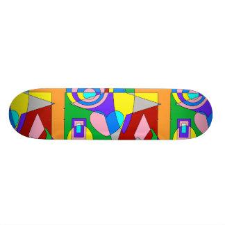 Retro färgrik abstrakt mini skateboard bräda 18,5 cm