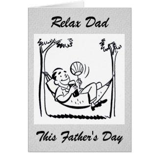Retro fars dagpappa hängmatta hälsningskort