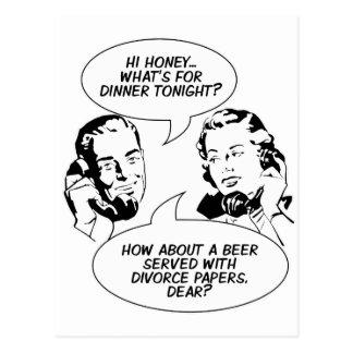 Retro feministiska humorvykort vykort