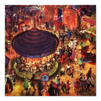 Retro festliga inbjudningar för partykarneval på
