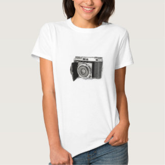 Retro filma kamerafotografiteckningen skissar tee