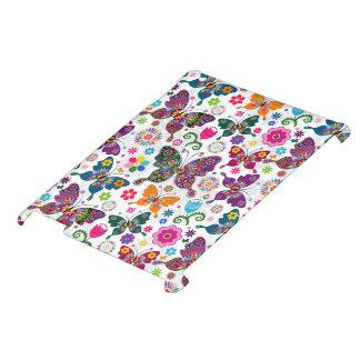 Retro fjärilar och blommor iPad fodral