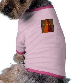 Retro flicka för hund djur shirt