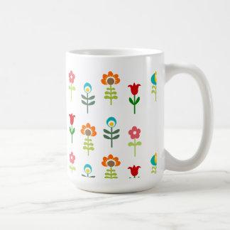 Retro folk blommönster kaffe muggar