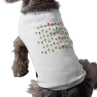 Retro folkblommamönster långärmad hundtöja