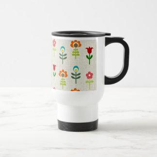 Retro folkblommamönster kaffe muggar