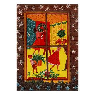 Retro för juldekor för helgdag GR8 kort för märkre Visit Kort