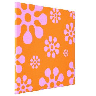 Retro för kanfasvägg för orange och för rosor canvastryck