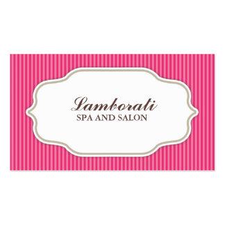 Retro för salong för hårstylistfrisör rosa set av standard visitkort