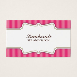 Retro för salong för hårstylistfrisör rosa visitkort