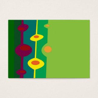 retro formar citrusa färger visitkort