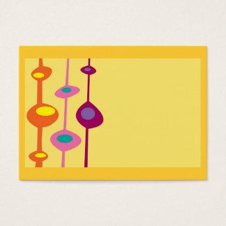 retro formar citrusa godisfärger visitkort