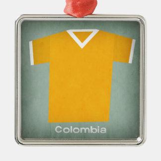 Retro fotboll Jersey Colombia Julgransprydnad Metall