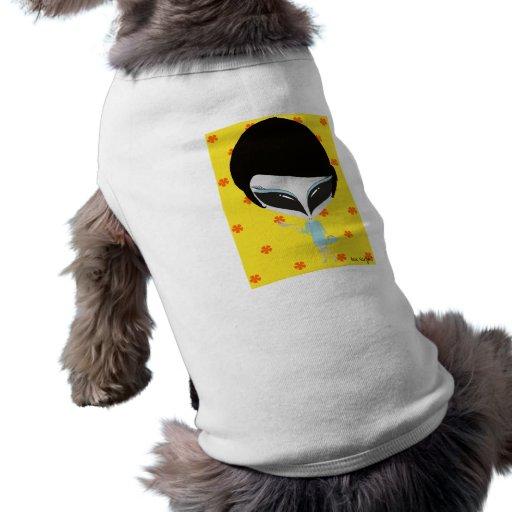 Retro främling hund t-shirt