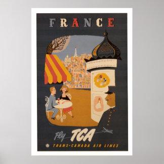 Retro frankriken reser affischen poster