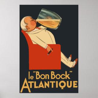 Retro fransk ölannons Le Bon Bock Poster