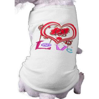 Retro fred & kärlek kläder för husdjur