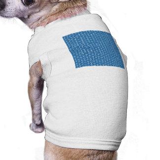 Retro fredssymboler på djupblå långärmad hundtöja