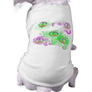 Retro fredstecken tröja för hundar